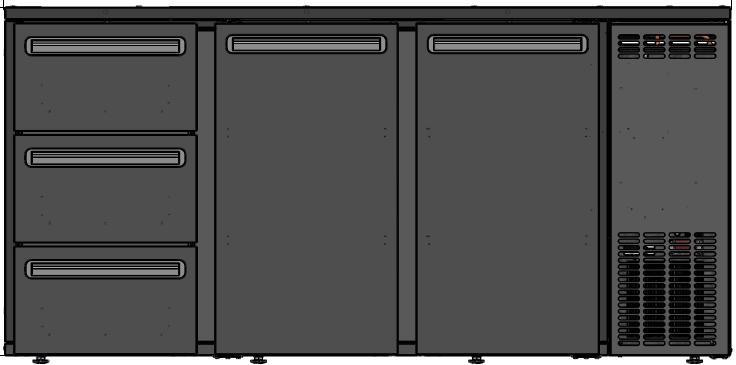 DCL-622 MU/VS - Barska vitrina