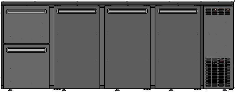 DCL-5222 MU/VS - Barska vitrina