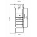 SCH 602 INOX Hladnjak sa staklenim vratima