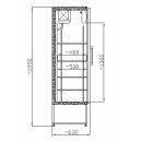 SCH 401 INOX rashladna vitrina sa staklenim vratima